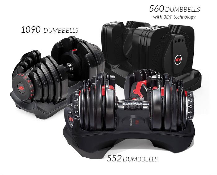 bowflex selecttech dumbbells compare