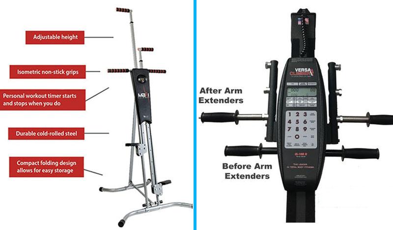 Maxi Climber vs VersaClimber - Detailes