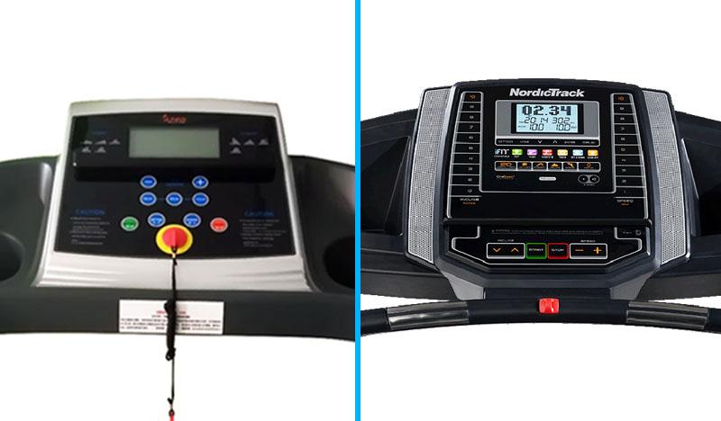 Sunny Health&Fitness vs NordicTrack T 6.5 S Treadmill - Console