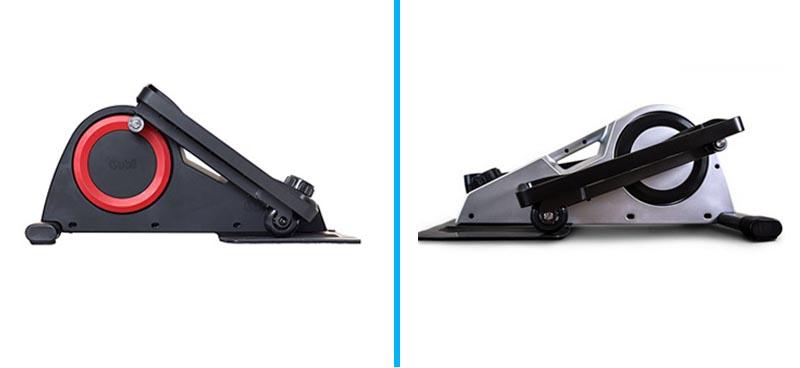 Cubii vs FitDesk Under Desk Elliptical - Side