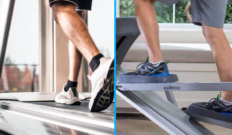 How do you choose between the Treadmill and Cross Trainer