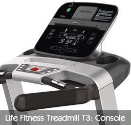 Life Fitness Treadmill T3 Console