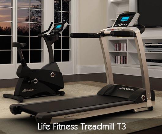 Life Fitness Treadmill T3 Pros