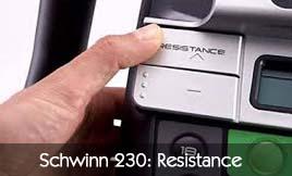 Schwinn 230 Resistance