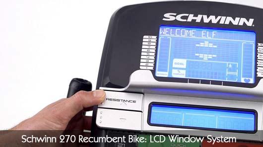 Schwinn 270 LCD Window System