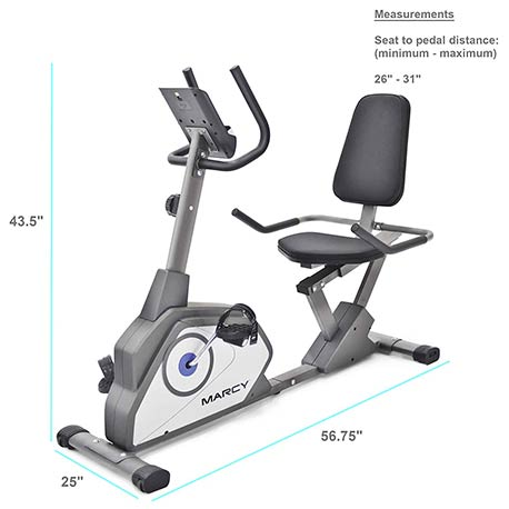 Marcy NS-40502R Recumbent Bike