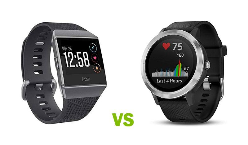Fitbit Ionic GPS Smartwatch vs Garmin Vivoactive 3 GPS Smartwatch