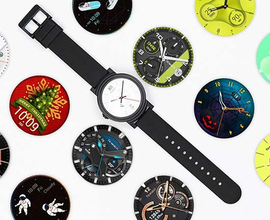 TicWatch E changeable watch face