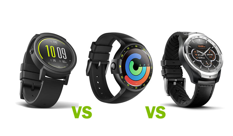 Ticwatch E vs Ticwatch S vs Ticwatch Pro