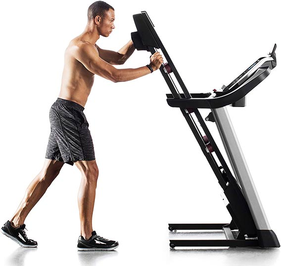 Proform 905 treadmill Fold-up design