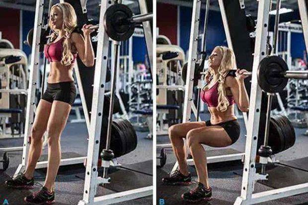 Smith machine squats - Not keeping feet flat