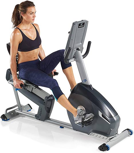 Nautilus R614 recumbent bike features