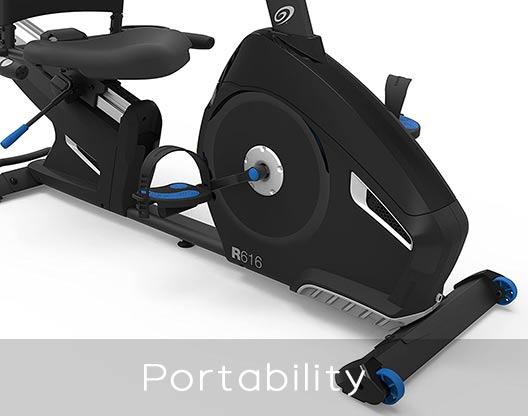 Nautilus Recumbent Bikes Portability