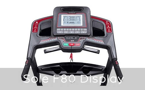 Sole F80 digital readout display