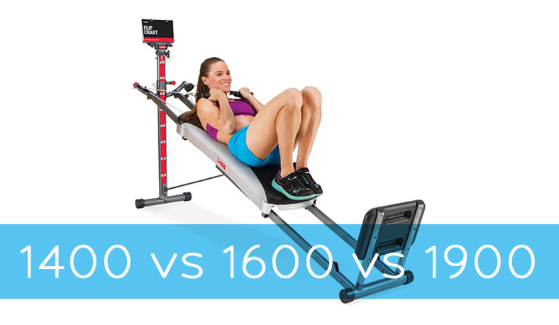 Total Gym 1400 vs 1600 vs 1900
