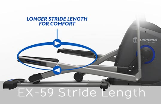 Horizon EX-59 Elliptical Stride Length