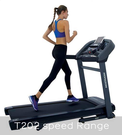 Horizon Fitness T202 Speed Range