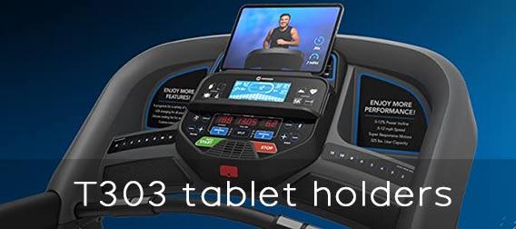 Horizon Fitness T303 tablet holders