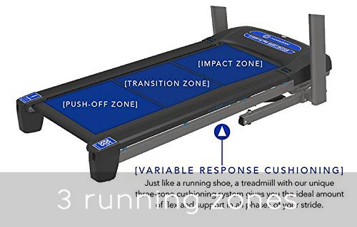Horizon Fitness Treadmills - 3 running zones