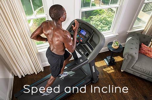 Horizon Treadmills Speed and Incline Variations