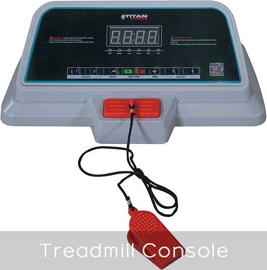 Titan Fitness Walking Treadmill Console