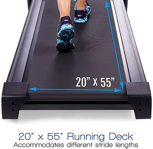 Xterra Fitness TR300 spacious deck