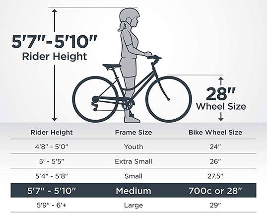 Hybrid Bike 28 inch wheel size