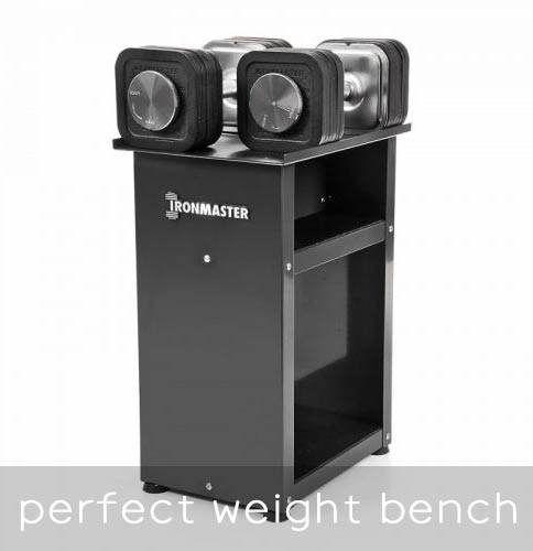 Ironmaster Dumbbell perfect weight bench