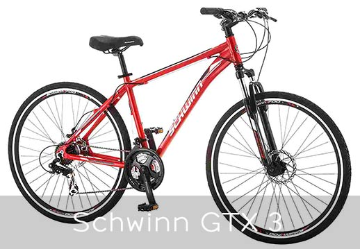 Schwinn GTX 3 red colored bike