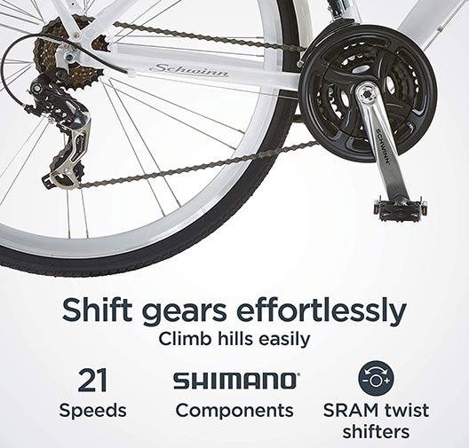 Schwinn Hybrid Shimano and SRAM componentry