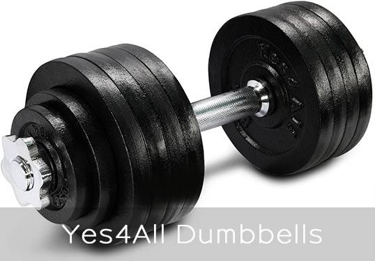 Yes4All adjustable dumbbells simpler design