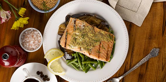 Bistro MD Salmon with Dill mustard sauce