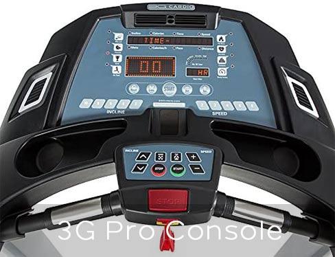 3G Treadmill Pro intuitive Console