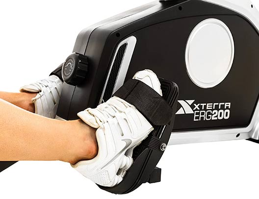 ERG200 Rower Oversized foot pedals