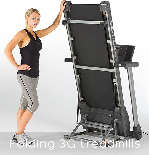 Folding Design 3G Cardio treadmills