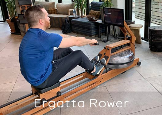 Real wood material of Ergatta rower