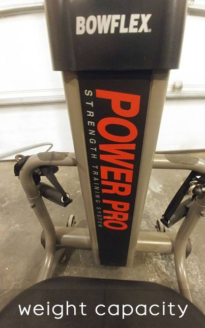 Bowflex Power Pro weight capacity