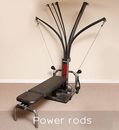 Power rods of Bowflex Power Pro