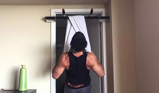 Bicep Workouts - Towel inverted row