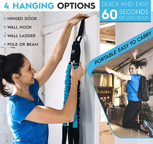 MoonRun Portable Cardio Trainer Hanging options