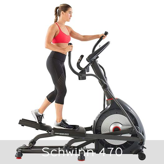 Schwinn 470 elliptical appearance and structure