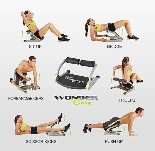 Wonder Core Smart Six Muscle burning Exercises