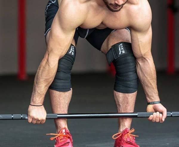 Knee wraps for athletes